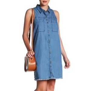 Abound Chambray Sleeveless Dress